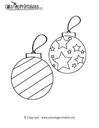 Small Picture Christmas Ornaments Coloring Page Printable Holiday Printables