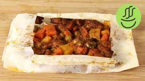 Evde Pratik Kağıt Kebabı Tarifi - Fırında Kağıtta Sebzeli Kebap - Evde  Kolay Kebap Nasıl Yapılır? - YouTube
