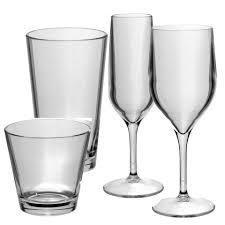 set of 24 tao polycarbonate plastic premium glasses