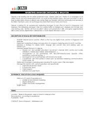 Music Manager Job Description Marketing Manager Singapore And Malaysia Job Description