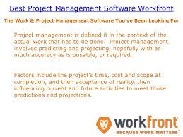 Best Project Management Software Workfront Workfront