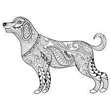 dog pictures to print. Simple Pictures Vector  Zentangle Dog Print For Adult Coloring Page Hand Drawn  Artistically Ethnic Ornamental Patterned Illustration Animal Collection On Dog Pictures To Print B