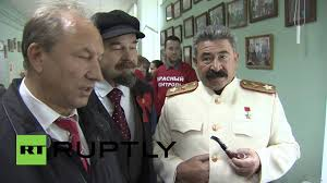 lenin and stalin russia see lenin and stalin join moscow voters on election day