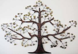 large metal tree wall art uk