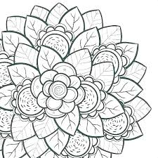 Coloring Pages Of Flowers Coloring Book Themes Stampsnowinfo