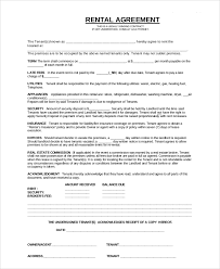 Apartment Rental Contract Sample Sample Apartment Rental Contract 100 Documents in PDF 2