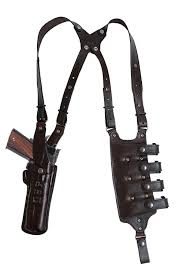 vertical double shoulder and quad carrier rig military law enforcement shoulder holster