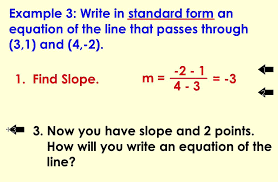 writing the equation of a line in standard form
