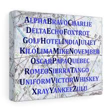 The resulting alphabet was adopted by the international commission for air navigation, the predecessor of the icao, and was used for civil aviation until world war ii.18 it continued to be used by the imo. Amazon Com International Phonetic Alphabet Map Art Print Gift For Pilot Blue Nursery Decor Handmade