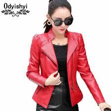 6xl Plus Size Jacket Slim Women Coat 2019 Fashion Pu Leather