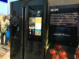 refrigerator with tv. ces 2016, best of news, ces, consumer electronics, refrigerator with tv