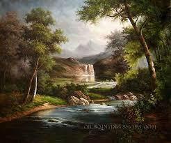 framed art paintings reion famous landscape painting mountain size 40 x