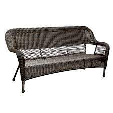 dark brown wicker outdoor patio sofa