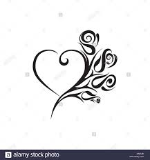 Heart Shape Design Heart Shape Tattoo Design Stock Vector Art Illustration