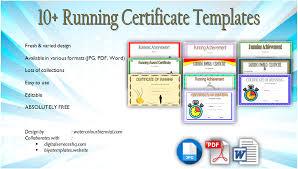 Fun Run Certificate Template Download 10 Running Certificate Templates Free