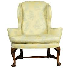 Queen Anne Style Wing Armchair Queen Anne Armchair1