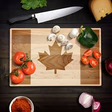 Small Picture Rustic Home Decor Canadian Flag Cutting Board Maple Leaf Flag Wood