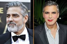 george clooney without makeup