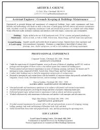 Building Maintenance Resume Haadyaooverbayresort Com