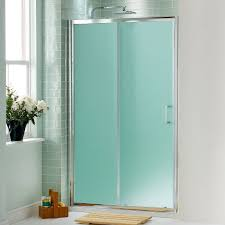 green glass door shower