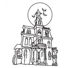 Small Picture Haunted House Coloring Page Clipart Panda Free Clipart Images