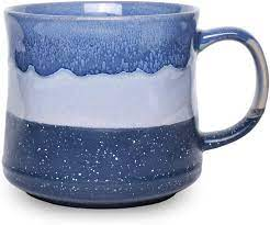 Coffee mugs + in stock + libbey® kona glass coffee mug. Amazon Com Bosmarlin Large Ceramic Coffee Mug Big Tea Cup For Office And Home 21 Oz Dishwasher And Microwave Safe 1 Pcs Blue Kitchen Dining