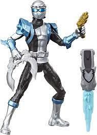 "Hasbro Power Rangers Beast Morphers Series 6"" Silver Ranger with Morph-X  Key Action Figure: Amazon.de: Spielzeug"