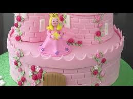 How To Make A Princess Castle Cake Part 2 Youtube