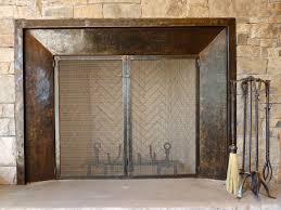 wonderful iron fireplace doors