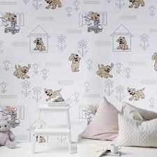 M327-10 Doggies Gray Dog Kids room Knit ...