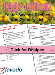 Grocery List Amazing FREE Printable Easter Savings Recipes Grocery List Sidetracked Sarah