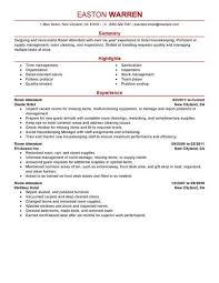 Dining Room Attendant Sample Resume