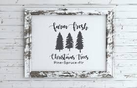 Download 15,565 christmas tree free vectors. Farm Fresh Christmas Tree Sign Free Svg Files Brooklyn Berry Designs