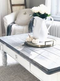 farmhouse coffee table makeover tables rustic white and gray chalk paint from ingplans 1080