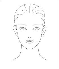 makeup template printable