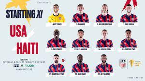 2021 Concacaf Gold Cup: USA vs Haiti ...