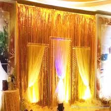 fengrise 1x2 3m gold foil fringe curtain tinsel string shiny shimmer party wedding birthday door decoration photo booth backdrop from china other festive
