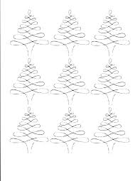 Blank Christmas Tree Coloring Page Staggering Plain Tree Coloring