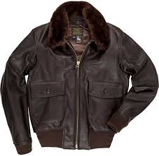 cockpit mens g 1 flight jacket with removable collar
