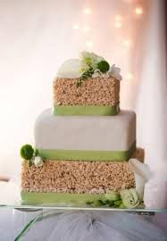 easy wedding cake. 25 tasty and easy to make rice krispie wedding cakes | weddingomania - weddbook cake z