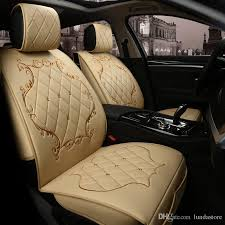 luxury pu leather car seat covers for citroen all models c4 c5 c2 c3 drain black red beige brown auto accessories leather seat covers for cars