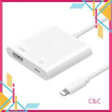 Cáp chuyển Lightning to HDMI cho Iphone, ipad chất lượng cao 1080P, HDMI cho  iphone, lightning sang HDMI tốt giá rẻ