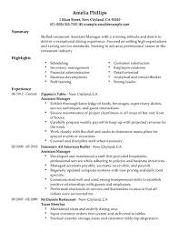 resume for restaurant restaurant resume nice restaurant manager resume samples pdf in