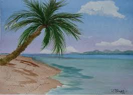 palm tree painting palm tree by dottie briggs