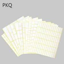 Us 3 33 10 Off Different 35 Sizes White Small Sticker Labels Price Stickers Tags Square Blank Self Adhesive Stickers Great For Inkjet Printers In