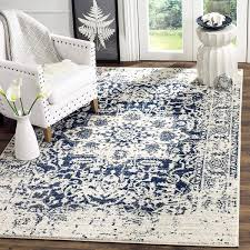 cream and blue area rug new safavieh madison collection mad603d cream and navy