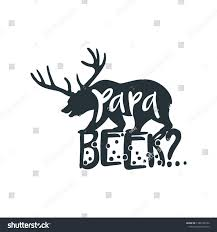 Papa Design Papa Funny Bear Clip Art Tshirt Stock Vector Royalty Free
