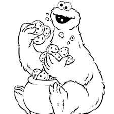 Small Picture Printable Cookie Monster Coloring Pages Coloring Me