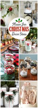 Ideas For Decorating Mason Jars For Christmas Mason Jar Christmas Decorating Ideas Clean and Scentsible 65