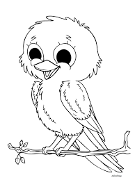 Small Picture Printable naughty bird enjoying weather for coloring Didi